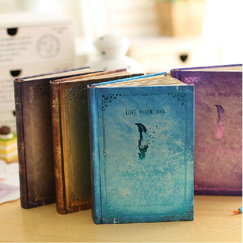 Vintage Notebook Vampire Diaries Bronzing European Diary Hardcover Calendar Notepad  School Offic Supply vampire dance