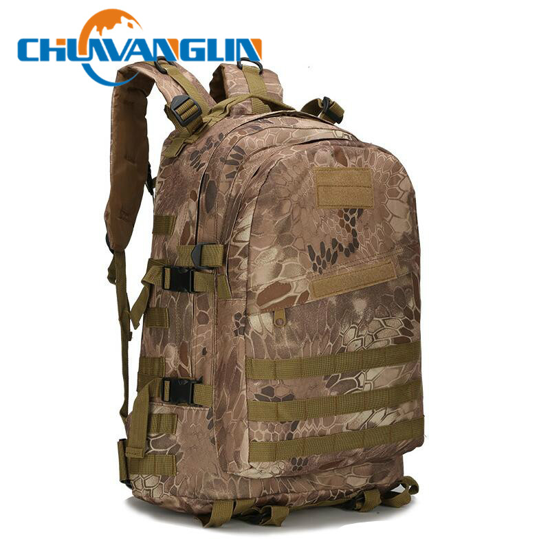 Chuwanglin Fashion 3p Camouflage Multi-function 40l Waterproof Men's Backpack School Bag Male Travel Bag Men Backpacks E411