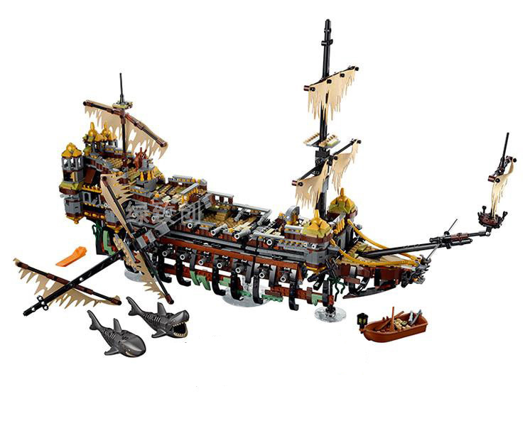 Bela 71042 10680 Pirates of The Caribbean Captain Jack Silent Mary Building Block Toys Compatible with Legoing Pirates Caribbean kazi 608pcs pirates armada flagship building blocks brinquedos caribbean warship sets the black pearl compatible with bricks