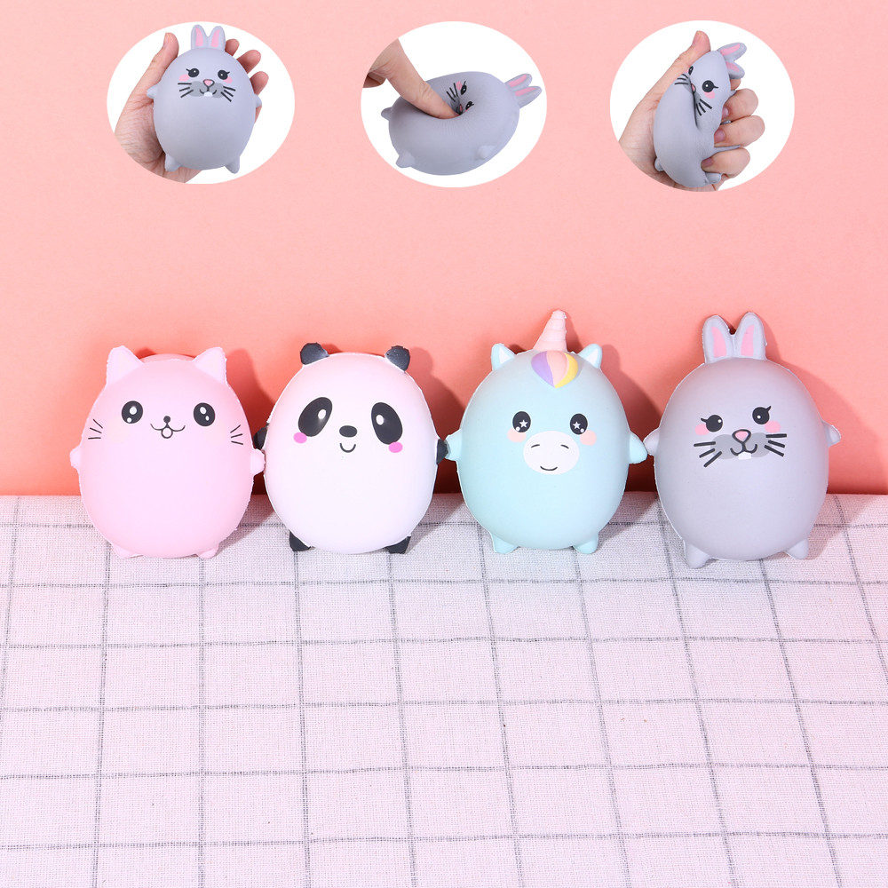 Painstaking Tumama Antistress Squishes Unicorn Panda Deer Ice Cream Pu Toy Kawaii Squishy Toys Healing Fun Stress Reliever Decompression Toy Sturdy Construction Stress Relief Toy