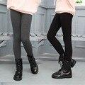 2016 Otoño Invierno de Los Niños Niñas Leggings Leginy Gruesas Chicas Calientes Pantalones Polainas De Terciopelo De Algodón Niños Legency Para Niñas
