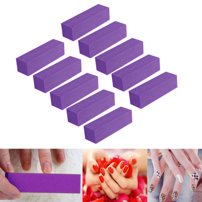 10pcs Buffer Sanding Blocks Nail File Buffer Sanding Blocks For Manicure Art Hot