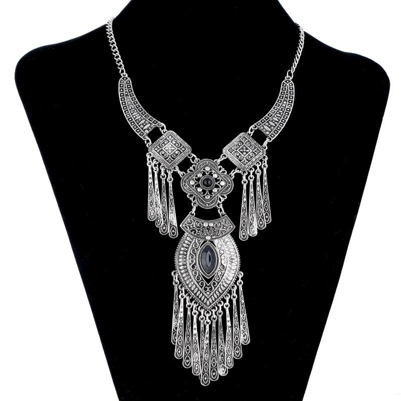 LOVBEAFAS 2019 Moda Bohemio Gargantilla Collar Collar Vintage Borla - Bisutería