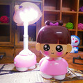 Little girl LED night light eye protection Rechargeable table lamp 2 modes switch folding bedroom desk lamp for kids girls gift