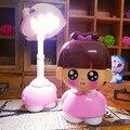 Niña noche de luz LED protección para los ojos lámpara de mesa Recargable 2 modos de interruptor dormitorio plegable lámpara de escritorio para niños niñas regalo