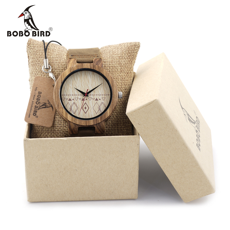 BOBO BIRD C19 Mens Watches Half Patterns Zebra Wooden Watches Famous Brand Quartz Bamboo Watch for Men Box Accept OEM