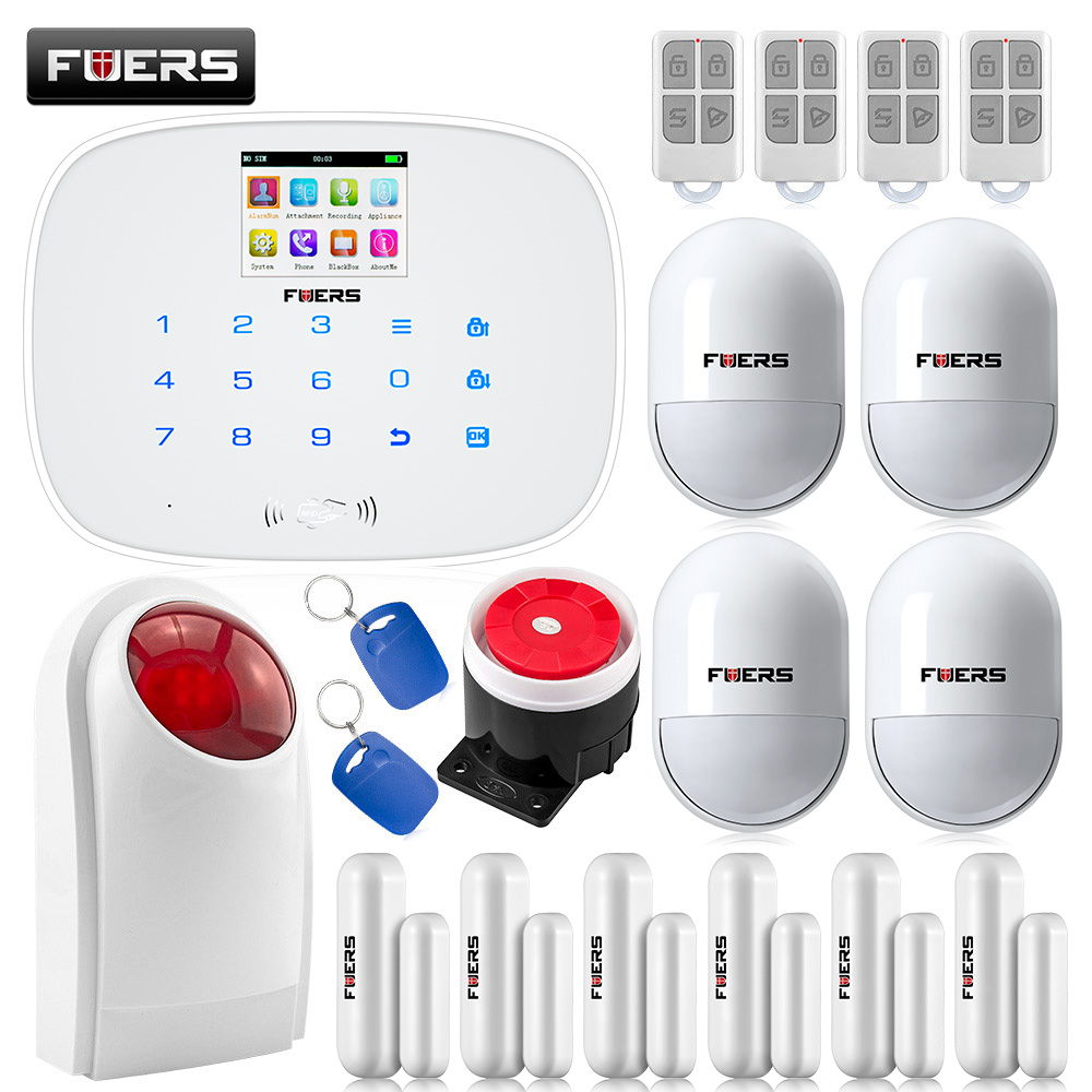 G19 Wireless&Wired GSM SMS Home Security Burglar Alarm System English & Russian Voice Motion Detector Door Sensor Alarm wireless motion door sensor detector 2 remote control home security burglar alarm system more stable than gsm alarm system