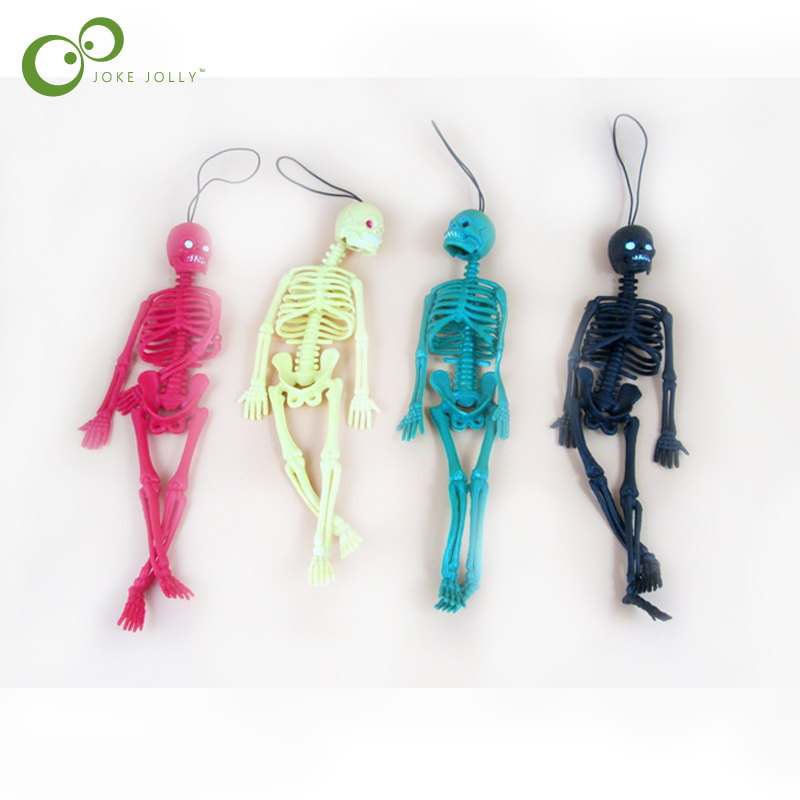 1pc Funny Halloween toy Length 20cm Realistic man skeleton mold The Kids Mischief toys Scary jokes toy Free shipping GYH