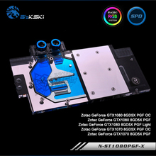 Bykski N-ST1080PGF-X Full Cover Graphics Card Water Cooling Block RGB/RBW/ARUA for Zotac GTX1080/1070 8GD5X PGF