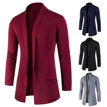 2018 Sweater Men Splicing Cardigan Without Bbuckle High-quality Knitwear Fashion Personality Pull Homme Cashmere Sweaters Man