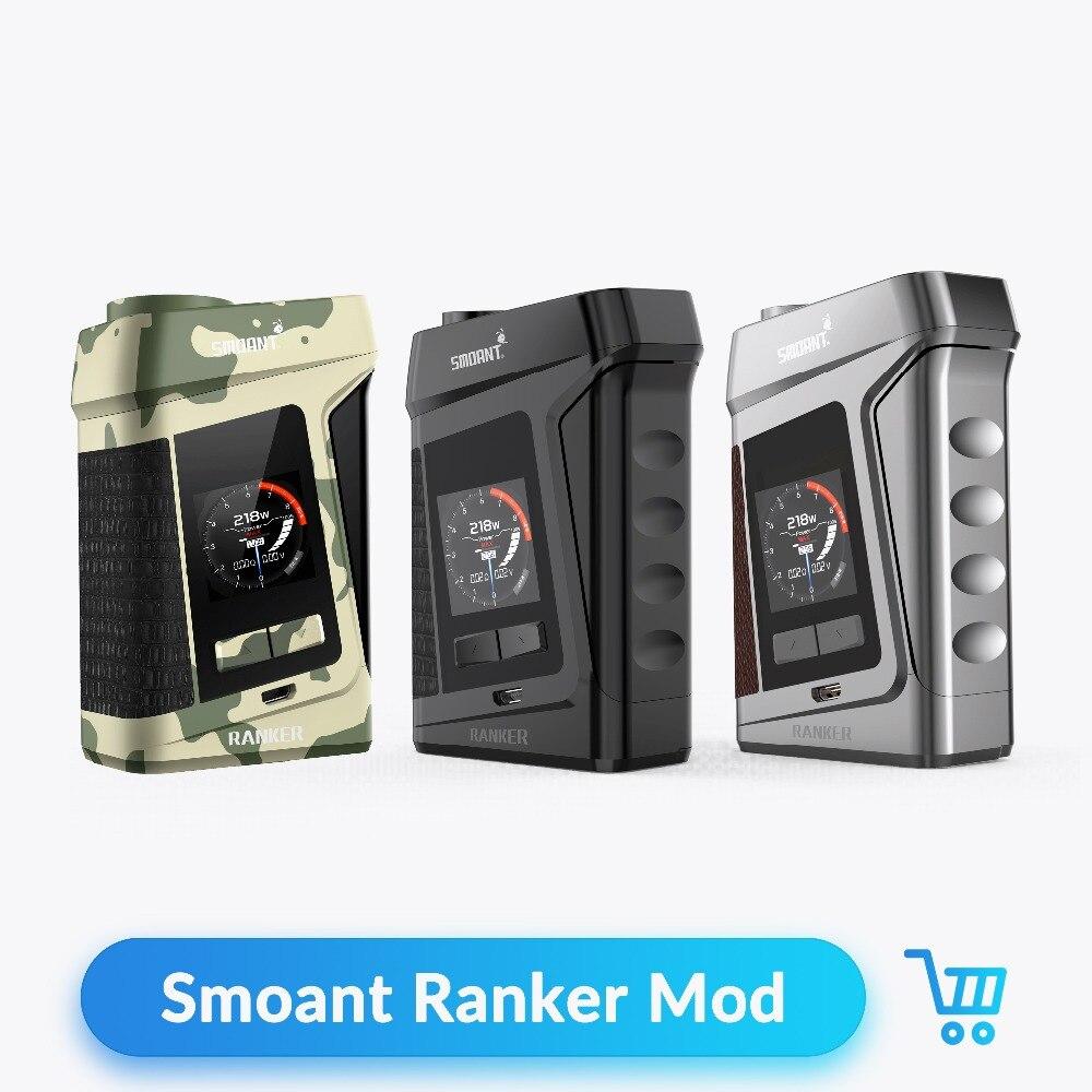 Smoant Ranker 218W TC Box Mod VW Variable Voltage Vape Mod Zinc Alloy Leather No