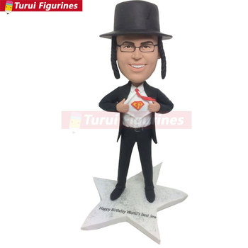 Jew Boyfriend Gift Jewish Custom Bobble Head Personalized Jew Husband Boyfriend Gift Birthday Cake Topper Funny Gifts For Jew