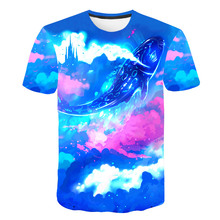 New Summer Fashion 3D Colorful Fish Printed T-shirt Funny Sea Design Short Sleeve O-neck T shirt Streetwear Hipster Cool Tops