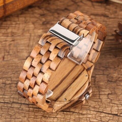 Retro Retro Wooden Watches Quartz Watches Men Unique Smooth Dial Silver Rivets Full Wood Wrist Watches Fashion Simple Man Clock Multan