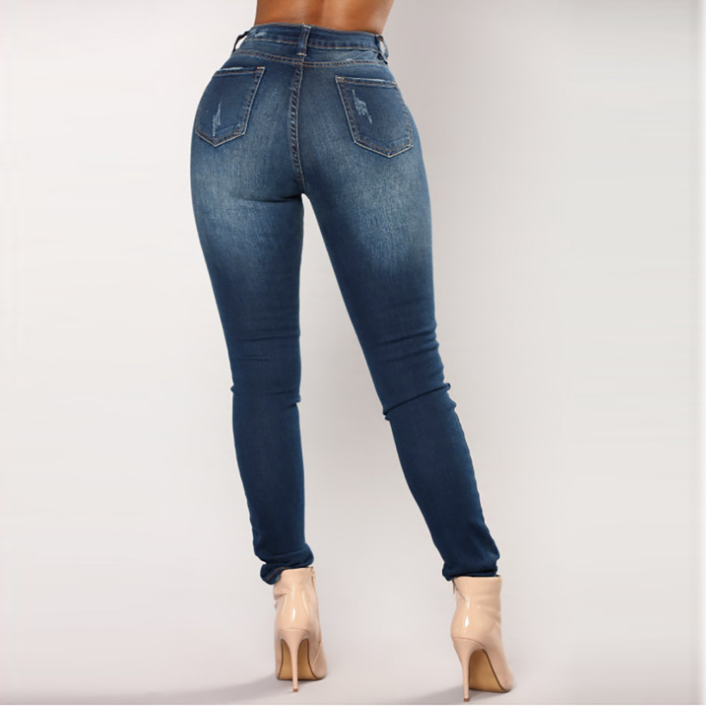 2019 Fashion Women Jeans Denim Female High Waist Stretch Slim Sexy Pencil Pants free shipping  3.18