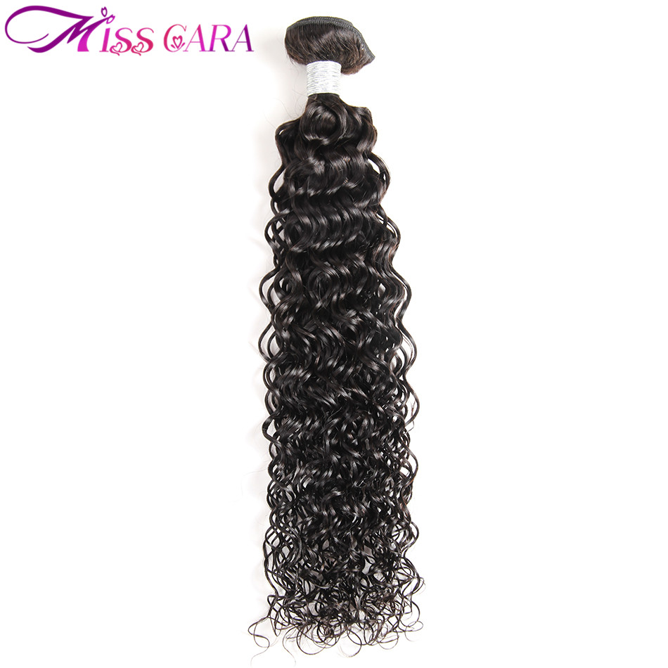 Miss Cara Hair Peruvian Water Wave Human Hair Weave Bundles 100% Non Remy Hair Extensions Natural Color 1 Piece Can Be Dyed