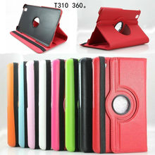 "360 Degree Rotating PU Leather Flip Cover Case for Samsung Galaxy Tab 3 8.0"" SM-T310 SM-T311 T315 8 inch Tablet Case Stand Cases(China)"