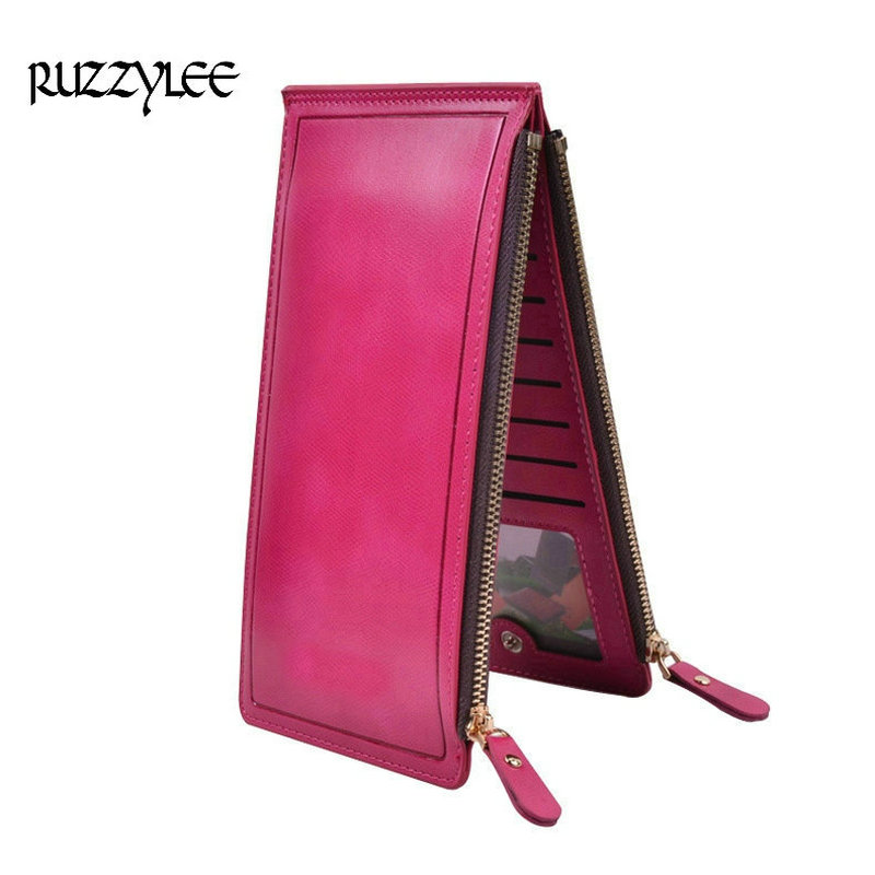 High Capacity Purse Women Long Zipper Wallet And Female Luxury Leather Ladies Purses Clutch Card Holder Women's Wallets Wristlet luxury brand women wallets business wallet long designer double zipper leather purses id card holder purse phone case clutch