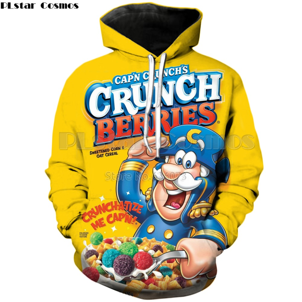 PLstar Cosmos Drop Shipping 2018 New Style Fashion Hoodie Food Crunch Berries 3d Print Mens Womens Casual Hooded Sweatshirt