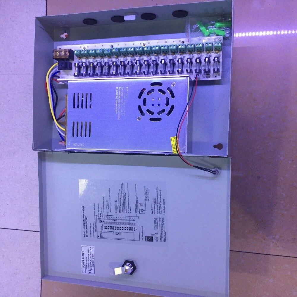 Camera Power 18CH DC12V 30A Power Supply Distribution Box CCTV Security Surveillance Camera For LED Strip