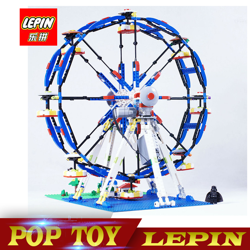 DHL Lepin 15033 1170Pcs Building Series The Three-in-One Electric Ferris Wheel Building Blocks Bricks Compatible 10247 15033 1170pcs building classic series the three in one electric ferris wheel set building blocks compatible with 4957 toy lepin