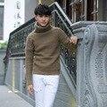 Suéteres de los hombres otoño invierno nuevo estilo de los hombres de Cuello Alto masculina otoño invierno establece la nueva juventud cultivar la moralidad de ocio de punto