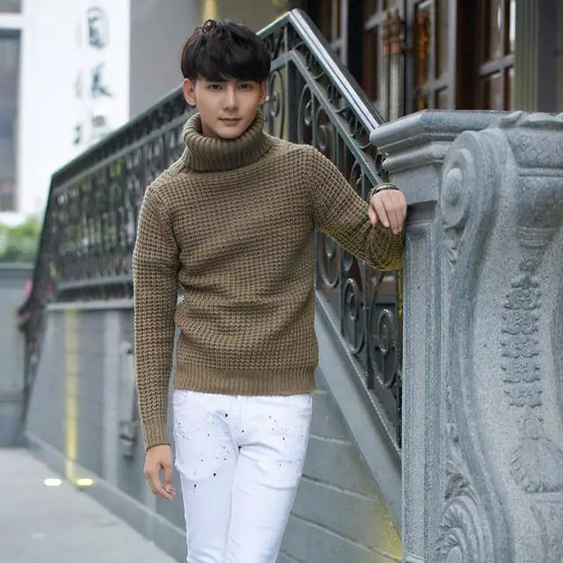 Sweaters men autumn winter new style men s Turtleneck male autumn winter sets the new youth