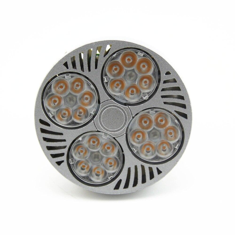 10pcs 35W PAR30 Spotlight2600LM E27 Bulb White OSRAM Chip Cool Fan Active Cooling Par30 Light Bulb E27 Spotlight