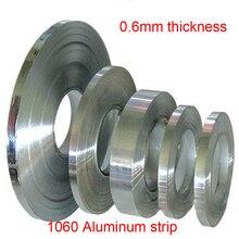 0,6 мм Толщина 10 мм 20 мм ширина 1060 алюминий газа алюминиевая лента al roll лист алюминиевой фольги