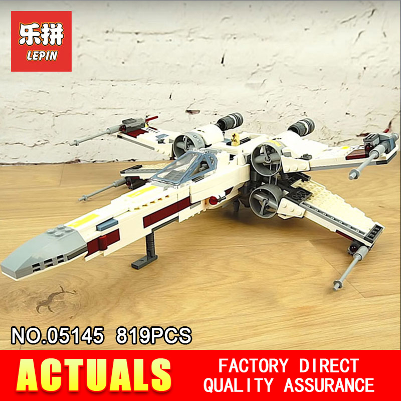 2018 Lepin 05145 STAR X-Wing Starfighter Compatible With The 75218 Building Educational Toys Blocks Bricks WARS new 1685pcs lepin 05036 1685pcs star series tie building fighter educational blocks bricks toys compatible with 75095 wars