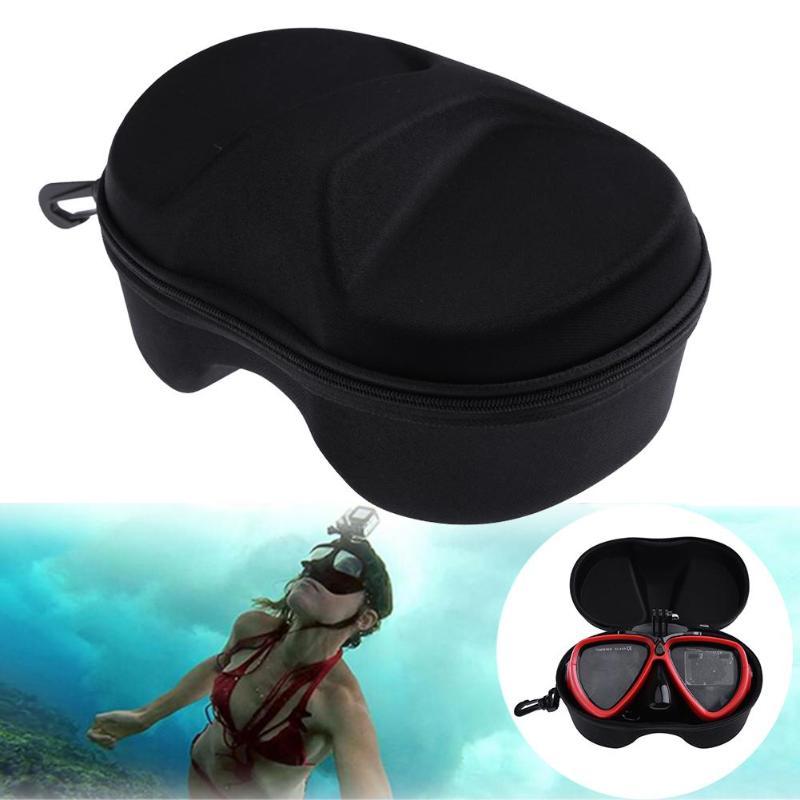 VODOOL Storage Box Case For Go pro Xiaomi Yi Action Camera Diving Mask Swimming Scuba Glasses Protective Box Storage Bag Case