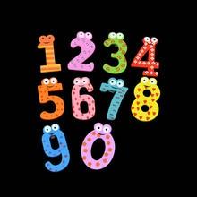 10 pçs/lote Bonito Números De Madeira Imã de geladeira Etiqueta Magnética Brinquedo Figura Animal Para Decoração de Casa Correio K0301