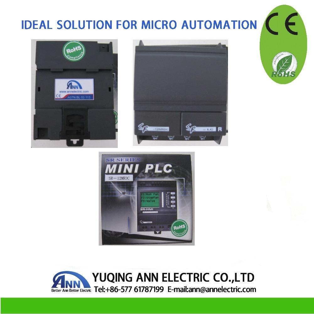 Programmable Logic Controller SR-12MRDC with HMI,12-24VDC 8 points DC input , 4 points relay output
