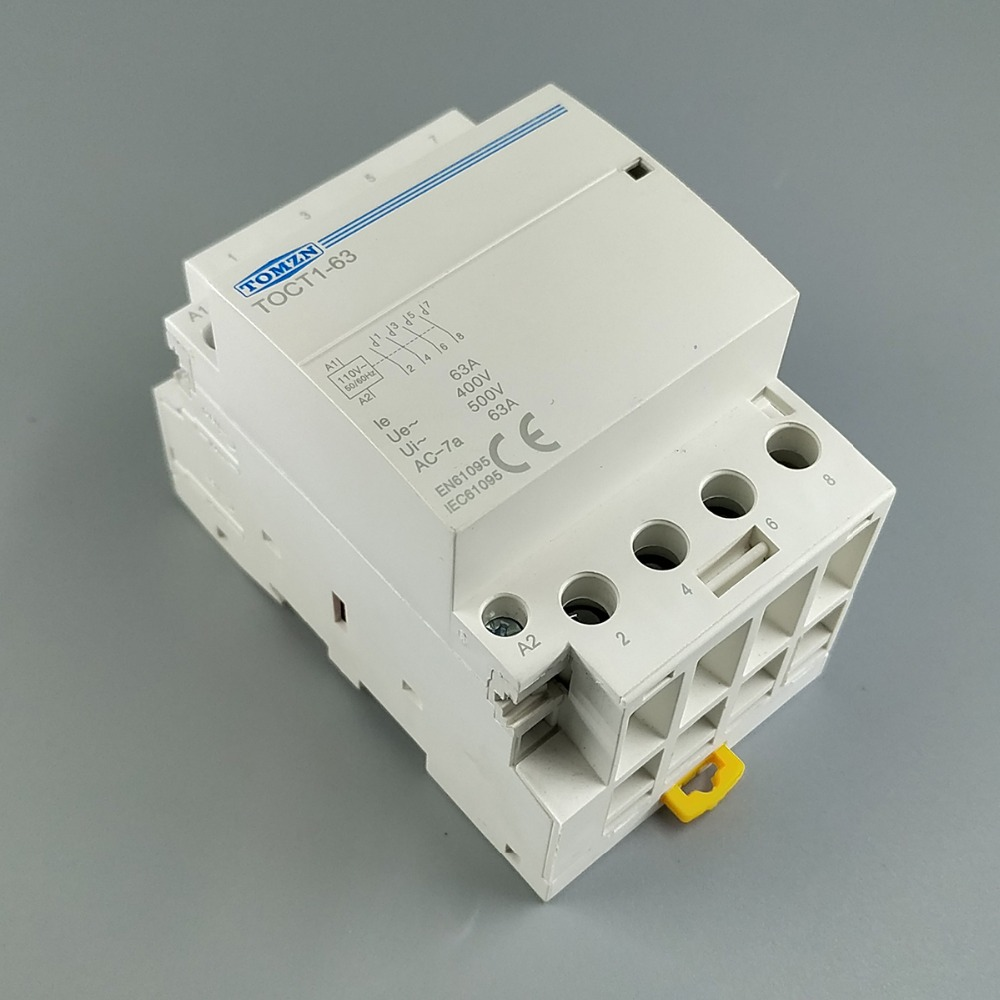 TOCT1 4 p 63A 110 v BOBINE 400V ~ 50/60 hz rail Din Ménage ac contacteur Modulaire 4NO ou 2NO 2NC Contacteurs