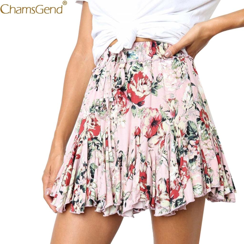 Retro summer skirts womens skirts women Short high waist summer elegant Print Design Evening Party Short Skirt High Waist Mar