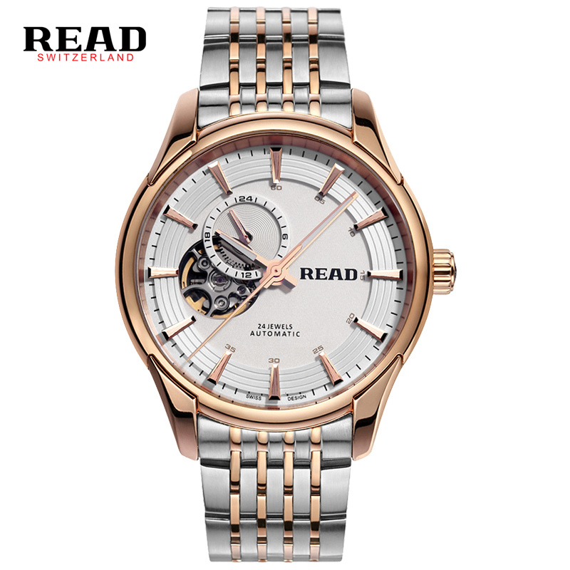 READ Brand Watch Men Full Steel Automatic Watch Mechanical Watch Luxury Skeleton Wristwatch 50M Waterproof Erkek Kol Saati carotif automatic mechanical men watches montre full steel male watch reloj hombre waterproof skeleton watch men erkek kol saati page 8