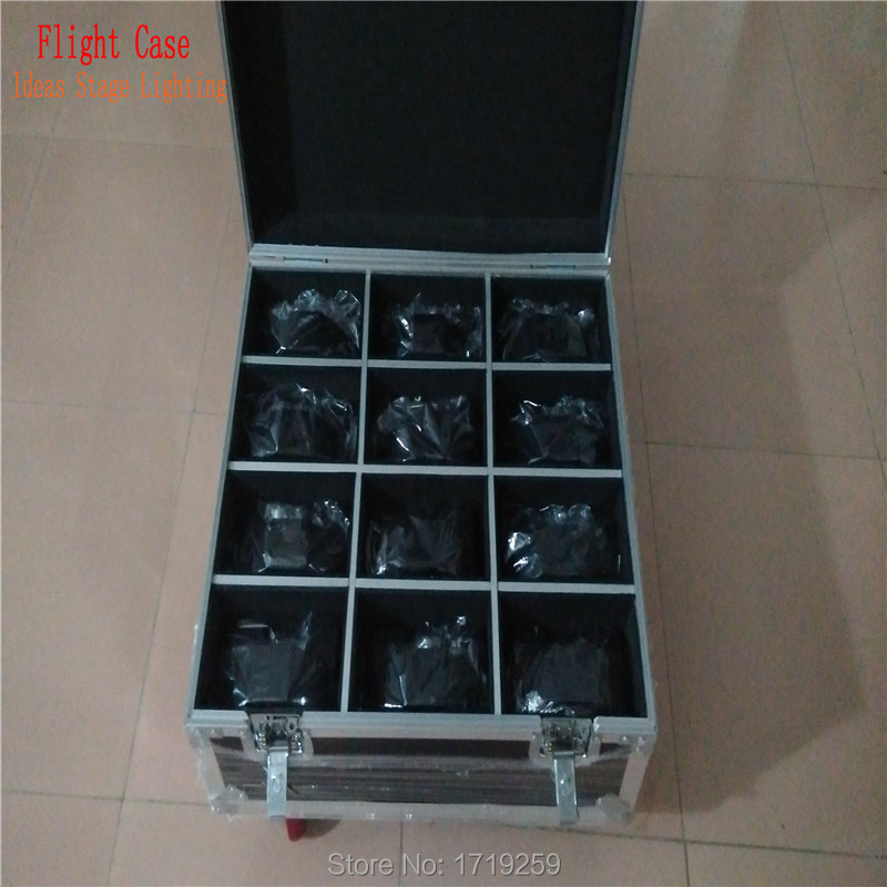 ФОТО Flight Case with 12 pieces 19x3W RGB LED SlimPar 64 with 3/7Channels DMX with 12 pieces DMX Cables