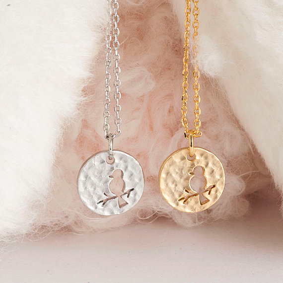 Bird disc necklace tiny bird pendant necklace jewelry statement bird disc necklace tiny bird pendant necklace jewelry statement necklace gold silver collier mozeypictures Gallery