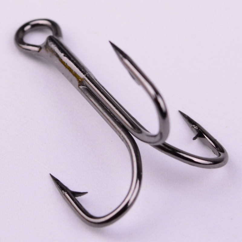Lot 10pcs fishing hook sharpened treble hooks fishhook for Fish and hooks