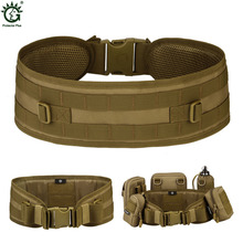 New 6 Colors Men Women Army Military Waist Belt MOLLE System 1000D Nylon Casual Airsoft Combat Belts S87