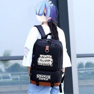 Image 5 - WISHOT Fremden Dinge rucksack schul für jugendliche Schule Taschen reise Casual Laptop Taschen Rucksack Leucht