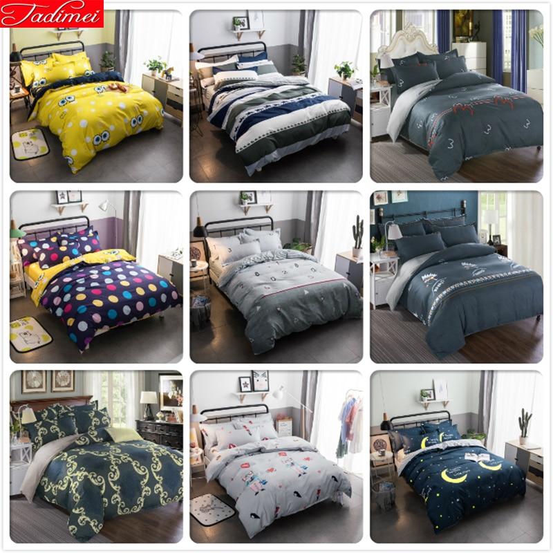 3/4 pcs Bedding Set Soft Cotton Bed Linens Single Twin Queen king Size Duvet Cover 1.35m 1.5m 1.8m 2m 2.2m Bedspreads Bedlinens|Duvet Cover| |  - title=