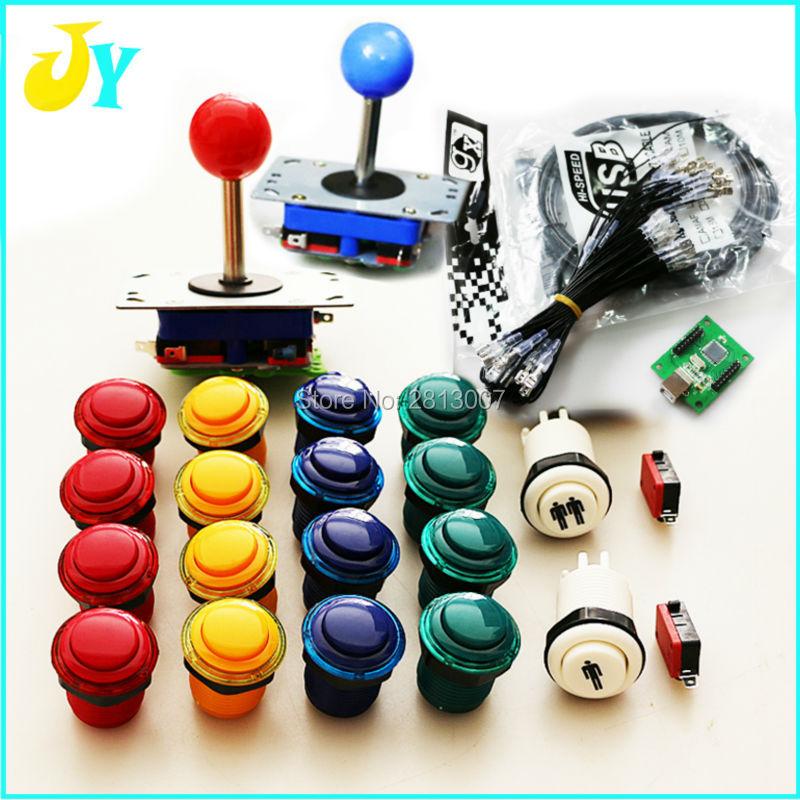 LED Buttons /& Encoder Multicade Zippyy Joysticks Xin Mo Package Kit Mame