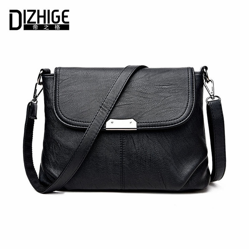 DIZHIGE Brand 2017 High Quality Women Messenger Bags Shoulder Luxury Handbags Women Bags Designer Leather Crossbody Bags Ladies burminsa brand winter round saddle genuine leather bags smiley designer handbags high quality shoulder crossbody bags for women