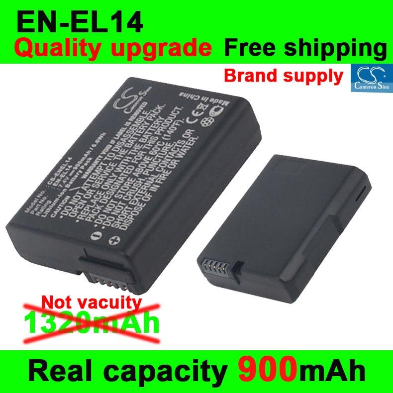 Новый Хорошее Качество 900 мАч EN-EL14 Камеры Аккумулятор для Nikon D5200 D5100 D3200 D3100 Батареи