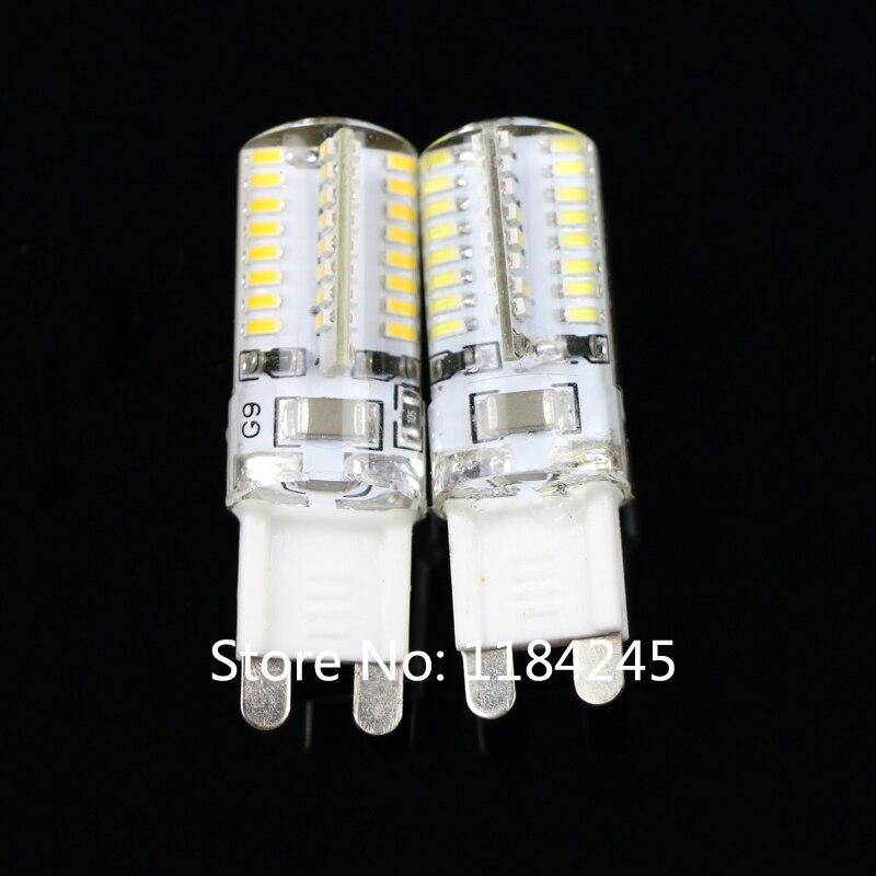 G9 6W 3014 SMD 64 LED Crystal Lamp 220V 110V Corn Bulb Droplight Chandelier COB Spotlight Cool/Warm White 360 Degree 5pcs/lot