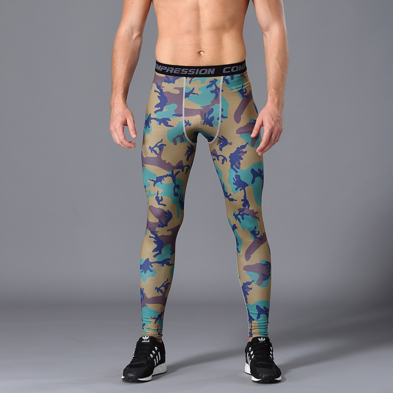 Best selling men 39 s tights gym fitness pants men 39 s running trousers fitness compression pants quick drying breathable slim pants in Running Pants from Sports amp Entertainment