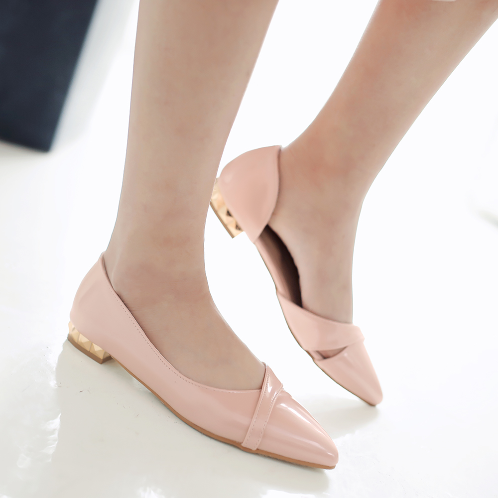 Fashion New Women slip-on Flats Pointed Toe Sweet Shoes Dress Shoes blue beige pink silver Wedding Shoes Size 34-43 new 2017 spring summer women shoes pointed toe high quality brand fashion womens flats ladies plus size 41 sweet flock t179