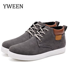 Autumn New Arrival Lace-up High help Style Casual shoes For men Youth Ankle Martin Boots Men Rubber flat Shoe Top Fashion new men casual boots breathable high top lace up shoes style fashion trend suede flat boots breathable rubber youth shoes