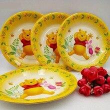 Disney 6pcs 7inch Bear Theme Plate Birthday Party Decorations Kids Supplies